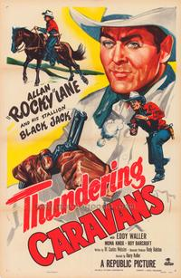 Thundering Caravans - 43 x 62 Movie Poster - Bus Shelter Style A