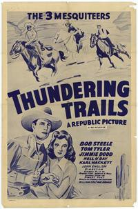 Thundering Trails - 27 x 40 Movie Poster - Style A