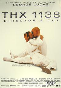 THX 1138 - 43 x 62 Movie Poster - French Style A