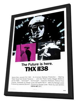 THX 1138 - 27 x 40 Movie Poster - Style A - in Deluxe Wood Frame
