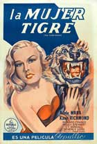 Tiger Woman - 27 x 40 Movie Poster - Style C