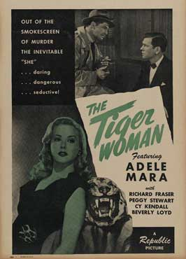 Tiger Woman - 11 x 17 Movie Poster - Style D