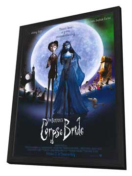 Tim Burton's Corpse Bride - 11 x 17 Movie Poster - Style N - in Deluxe Wood Frame