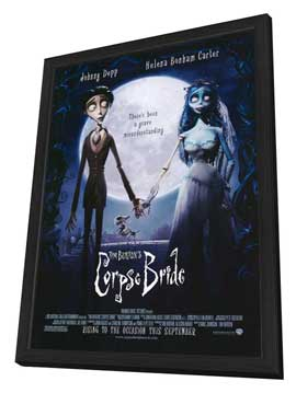 Tim Burton's Corpse Bride - 27 x 40 Movie Poster - Style B - in Deluxe Wood Frame