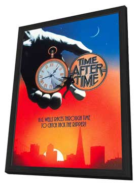 Time After Time - 11 x 17 Movie Poster - Style B - in Deluxe Wood Frame