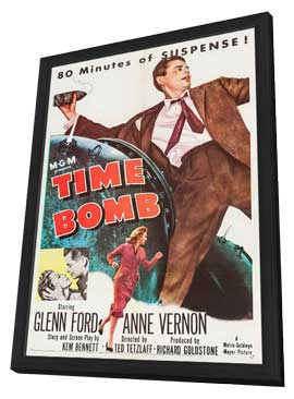 Time Bomb - 27 x 40 Movie Poster - Style A - in Deluxe Wood Frame