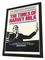Times of Harvey Milk - 11 x 17 Movie Poster - Style A - in Deluxe Wood Frame
