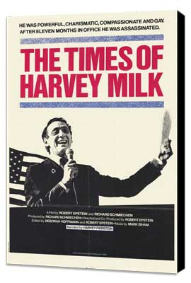 Times of Harvey Milk - 11 x 17 Movie Poster - Style A - Museum Wrapped Canvas