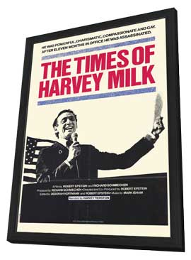 Times of Harvey Milk - 27 x 40 Movie Poster - Style A - in Deluxe Wood Frame