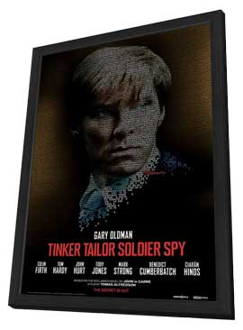 Tinker, Tailor, Soldier, Spy - 11 x 17 Movie Poster - Style F - in Deluxe Wood Frame