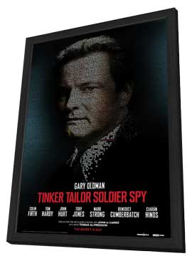 Tinker, Tailor, Soldier, Spy - 27 x 40 Movie Poster - Style D - in Deluxe Wood Frame