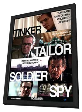Tinker, Tailor, Soldier, Spy - 27 x 40 Movie Poster - Style E - in Deluxe Wood Frame
