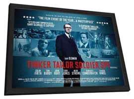 Tinker, Tailor, Soldier, Spy - 27 x 40 Movie Poster - UK Style A - in Deluxe Wood Frame