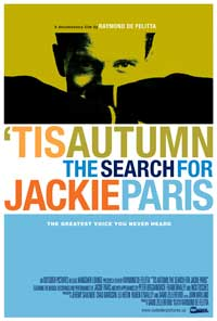 'Tis Autumn: The Search for Jackie Paris - 43 x 62 Movie Poster - Bus Shelter Style A