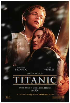 Titanic 3D - DS 1 Sheet Movie Poster - Style A