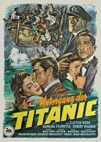 Titanic - 11 x 17 Movie Poster - German Style A