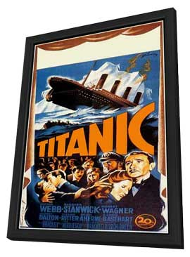 Titanic - 11 x 17 Movie Poster - Style A - in Deluxe Wood Frame