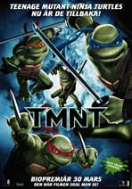 TMNT - 11 x 17 Movie Poster - Swedish Style A