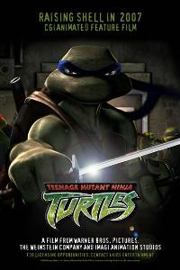 TMNT - 11 x 17 Movie Poster - Style B