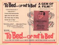 To Bed ...or Not to Bed - 43 x 62 Movie Poster - Bus Shelter Style A