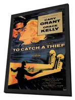To Catch a Thief - 11 x 17 Movie Poster - Style A - in Deluxe Wood Frame
