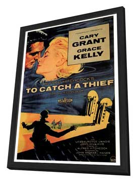 To Catch a Thief - 27 x 40 Movie Poster - Style A - in Deluxe Wood Frame
