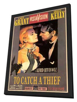 To Catch a Thief - 27 x 40 Movie Poster - Style B - in Deluxe Wood Frame