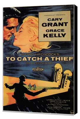 To Catch a Thief - 11 x 17 Movie Poster - Style A - Museum Wrapped Canvas