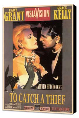 To Catch a Thief - 27 x 40 Movie Poster - Style B - Museum Wrapped Canvas