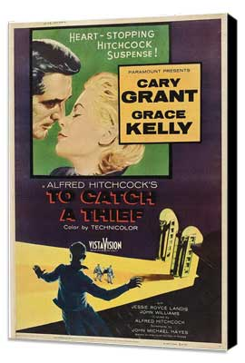 To Catch a Thief - 27 x 40 Movie Poster - Style F - Museum Wrapped Canvas