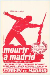 To Die in Madrid - 27 x 40 Movie Poster - Belgian Style A