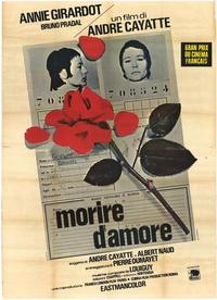 To Die of Love - 27 x 40 Movie Poster - Italian Style A