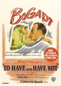 To Have & Have Not - 27 x 40 Movie Poster - Australian Style A