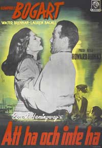 To Have & Have Not - 27 x 40 Movie Poster - Swedish Style A