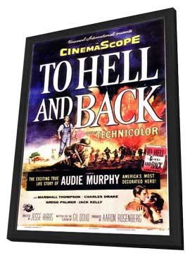 To Hell and Back - 11 x 17 Movie Poster - Style A - in Deluxe Wood Frame