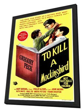 To Kill a Mockingbird - 11 x 17 Movie Poster - Style B - in Deluxe Wood Frame
