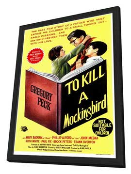 To Kill a Mockingbird - 27 x 40 Movie Poster - Style B - in Deluxe Wood Frame