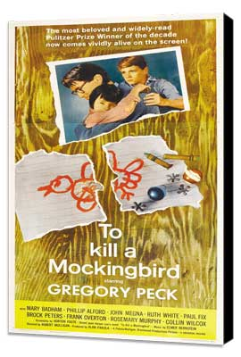 To Kill a Mockingbird - 11 x 17 Movie Poster - Style D - Museum Wrapped Canvas
