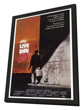 To Live & Die in L.A. - 11 x 17 Movie Poster - Style A - in Deluxe Wood Frame