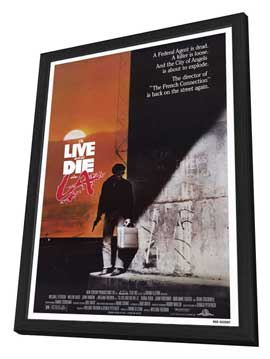 To Live & Die in L.A. - 27 x 40 Movie Poster - Style A - in Deluxe Wood Frame