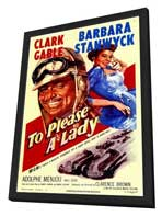 To Please a Lady - 11 x 17 Movie Poster - Style A - in Deluxe Wood Frame