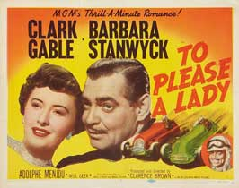 To Please a Lady - 22 x 28 Movie Poster - Half Sheet Style A