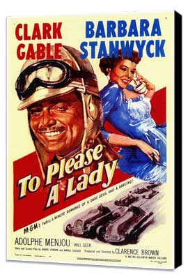 To Please a Lady - 11 x 17 Movie Poster - Style A - Museum Wrapped Canvas