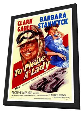 To Please a Lady - 27 x 40 Movie Poster - Style A - in Deluxe Wood Frame