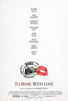 To Rome with Love - 27 x 40 Movie Poster - Style A