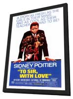 To Sir, with Love - 27 x 40 Movie Poster - Style A - in Deluxe Wood Frame