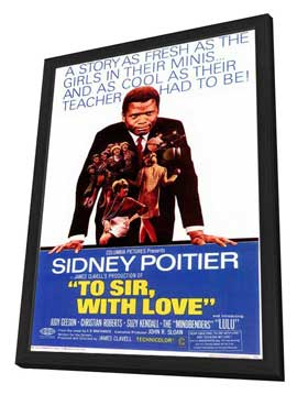 To Sir, with Love - 11 x 17 Movie Poster - Style A - in Deluxe Wood Frame