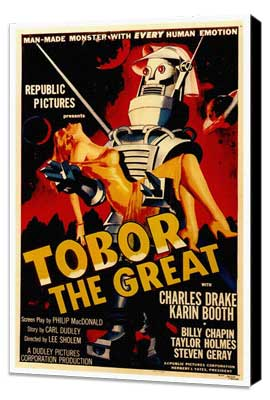 Tobor the Great - 27 x 40 Movie Poster - Style A - Museum Wrapped Canvas