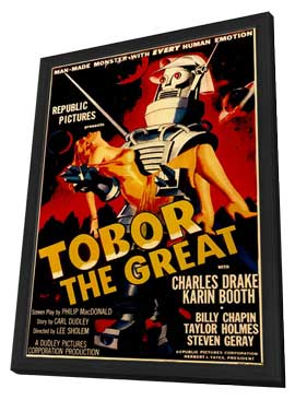 Tobor the Great - 11 x 17 Movie Poster - Style A - in Deluxe Wood Frame