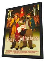 Tokyo Godfathers - 11 x 17 Movie Poster - Style A - in Deluxe Wood Frame